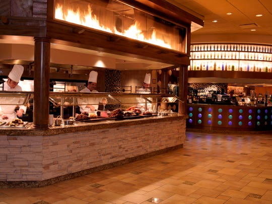 The Rio's Carnival buffet offers200 selections of recipes from around the world like pizza, omelets, carving stations, and live action cooking stations.