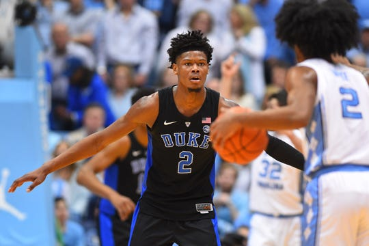 No. 8: Duke forward Cam Reddish