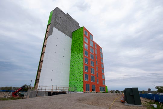 An open house of the Bluewater View condo tower was held for realtors Wednesday, May 22, 2019 in downtown Port Huron. The first  tower will house 30 units, while the second tower is projected to have 36.