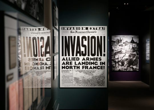 """Inside for the upcoming exhibit  """"D-Day: FDR and Churchill's 'Mighty Endeavor'"""" at the FDR Library and Museum on May 21, 2019. The exhibit opens on May 25th."""