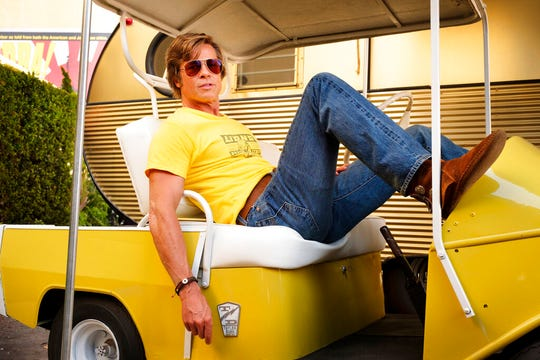 "Brad Pitt in Quentin Tarantino's ""Once Upon a Time in Hollywood."""
