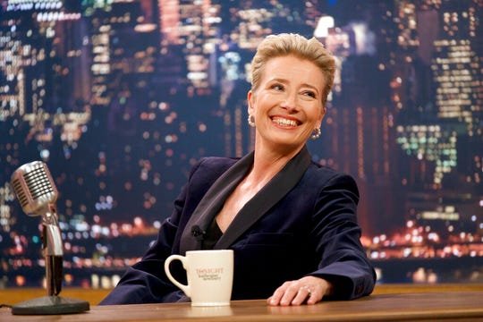 "Emma Thompson in a scene from ""Late Night."""