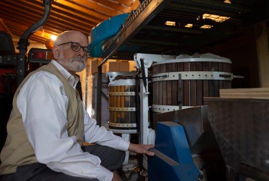 Steve Bahn, head vintner at Logan's View Winery in Glen Rock.