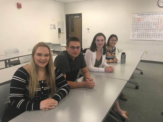 Kinsley Francis, William Puertos, Keziah Dutt and Ahtziry Vasquez, all 17, will graduate with associate degrees from Truckee Meadows Community College before they officially graduate from high school as part of TMCC High, a dual enrollment program.