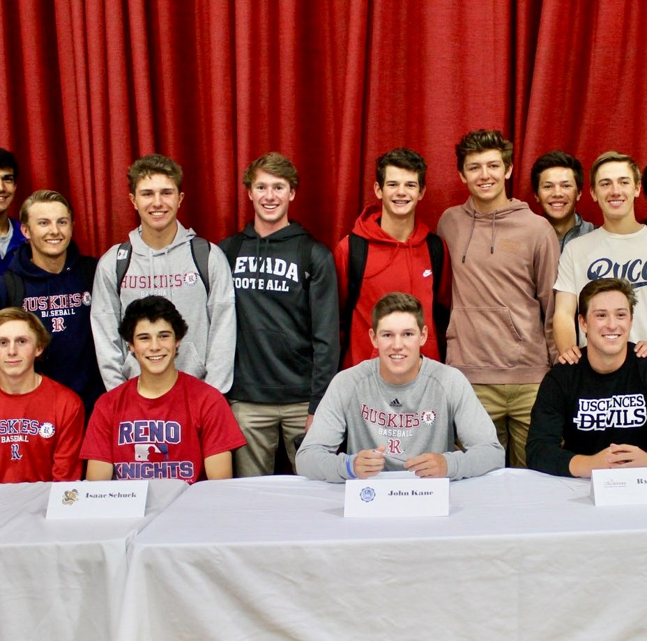 Reno, Hug High celebrate students signing for college athletics