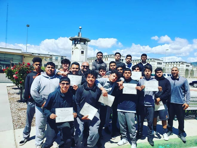 Gonzales High School student-athletes participated in the We Care program at the Salinas Valley Correctional Training Facility Tuesday morning.