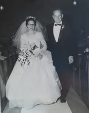 Bill and Dorothy Mueller on their wedding day, Dec. 2, 1961.