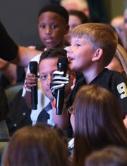 New Orleans Saints Quarterback Drew Brees, co-founder of Football N America, came to Shreveport to do a meet and greet with the parents and kids at LSUS Wednesday, May 22, 2019.