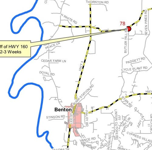 Closures planned for two north Bossier roads