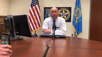 Jail warden Jeff Gromer says the name of the person who was shot by an officer on Tuesday is not being identified.