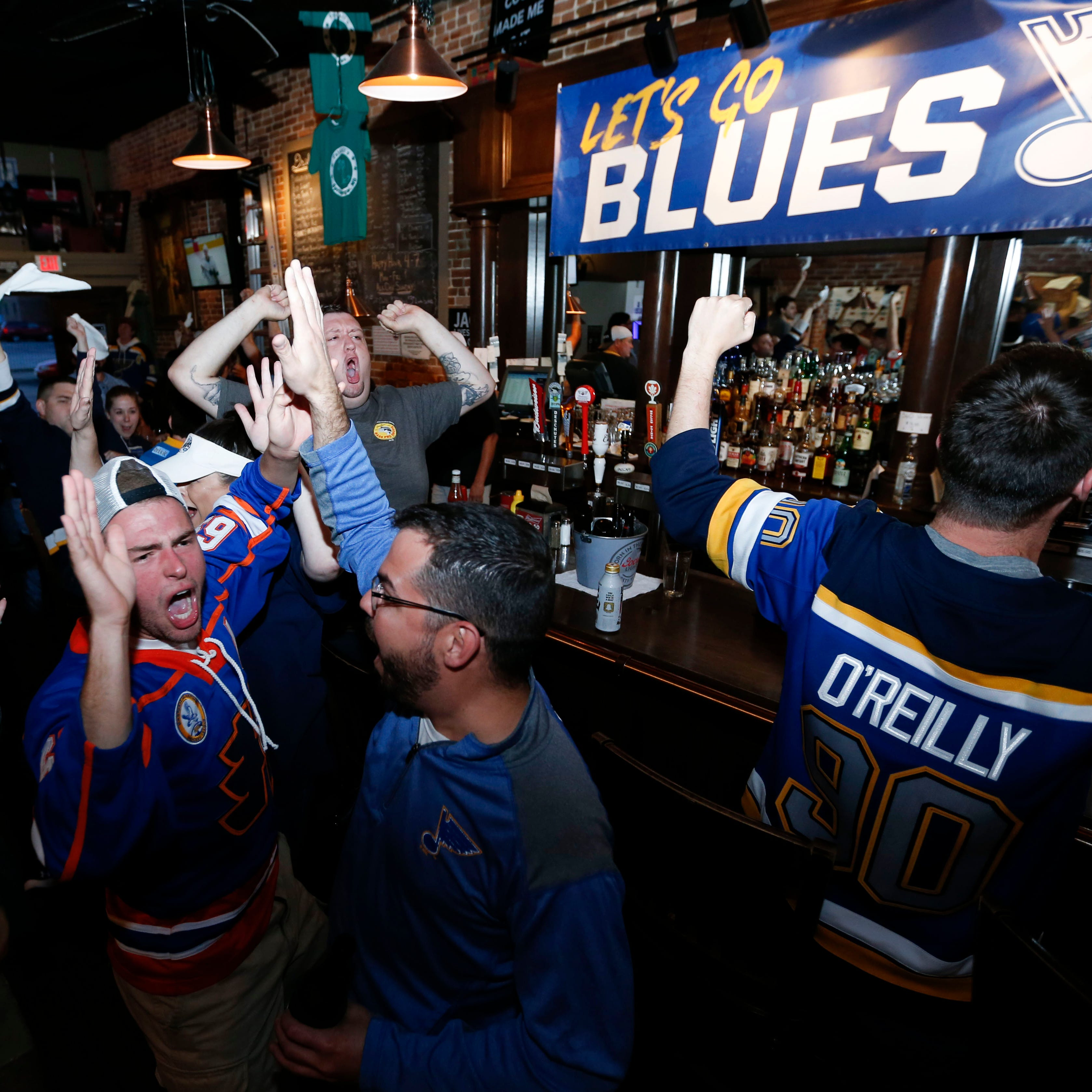 Play Gloria! Local St. Louis Blues fans celebrate advancing to Stanley Cup Final at Falstaff's