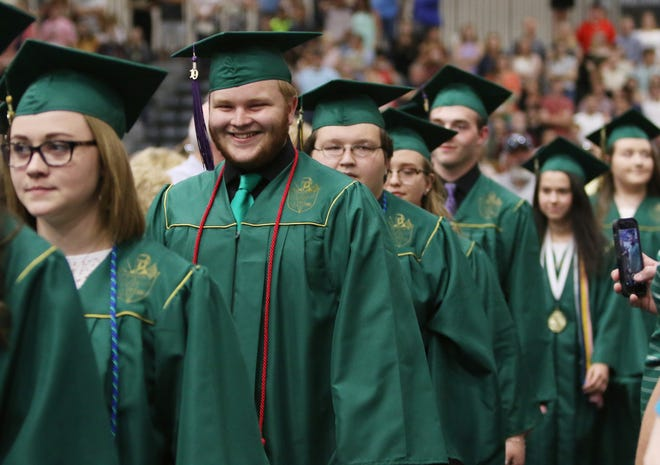 Wilson Memorial High School held their commencement ceremony at Eastern Mennonite University in Harrisonburg on Tuesday, May 21, 2019, awarding diplomas to 164 graduates.