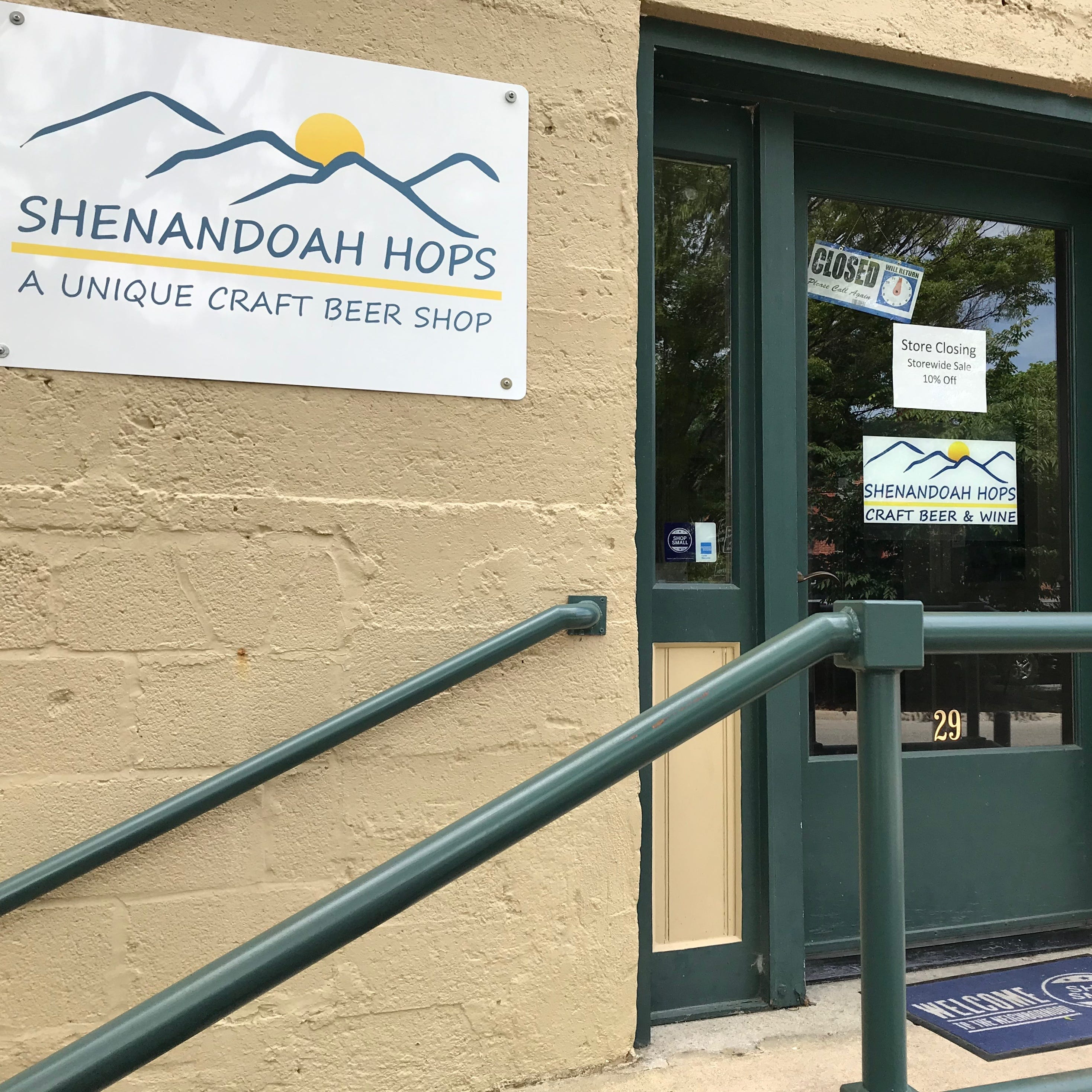 Staunton craft beer store Shenandoah Hops closing