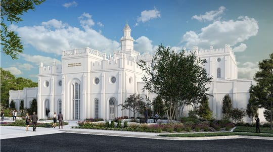The Church of Jesus Christ of Latter-day Saints reveals renderings that depict the St. George Temple's annex after renovations, which are scheduled to be completed in 2022.