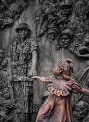 Faces of War Memorial in Rosewell, Georgia.