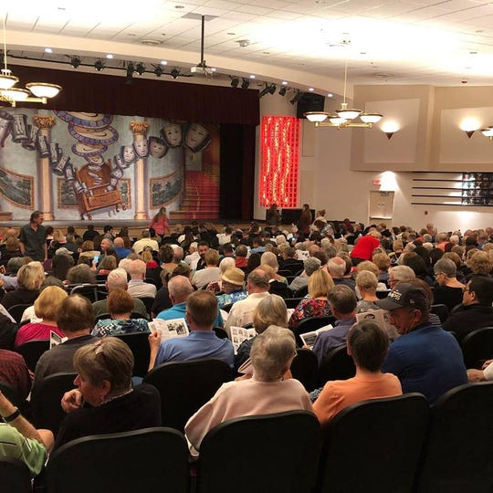 "A sold-out crowd packs into Port St. Lucie High School's auditorium for opening night of ""Beauty and the Beast."""