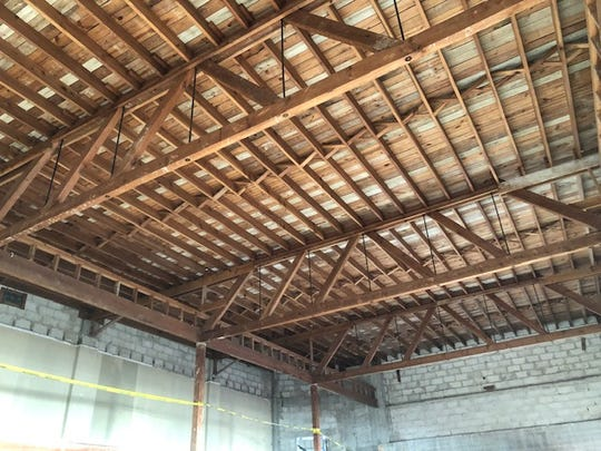 Wooden rafters in the ceiling from the 1940s will be worked into the design of the mezzanine of the renovated former Vero Furniture Mart building on 21st Street that will serve as offices and meeting rooms for the Buggy Bunch.