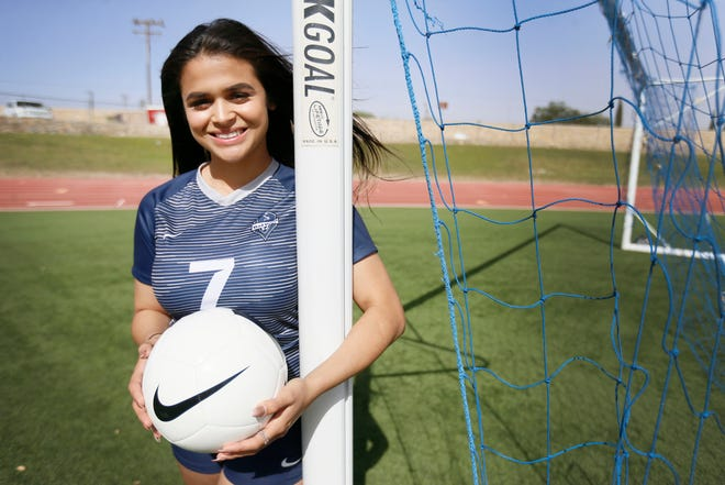 All-City Soccer defensive player of the year Love' Tovar, Del Valle, Tuesday, May 21, at Bel Air High School.