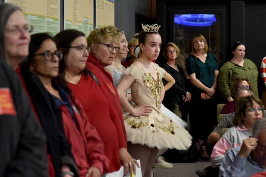 Maddie Becker, 16, of Footworks Youth Ballet, was among the hundreds of community members who attended a May 2019 Oxnard City Council meeting to voice concerns about proposed budget cuts for the Oxnard Performing Arts Center and other arts programs in the city.