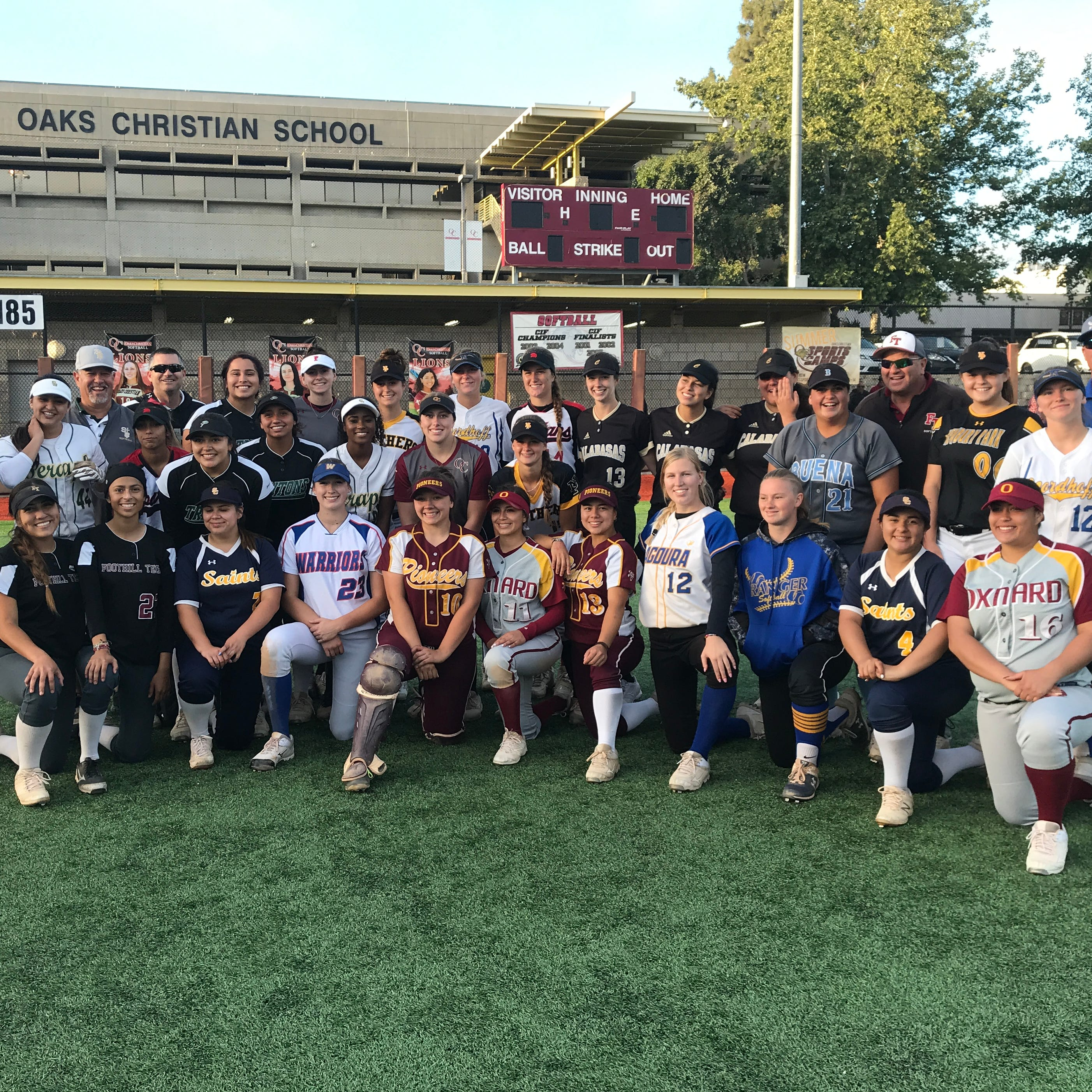 Friends Campbell, Johnson ensure All-Star softball game ends in 5-5 tie