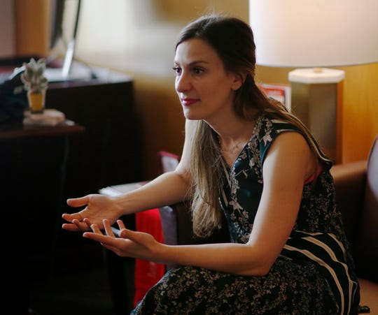 New York State Senator Alessandra Biaggi in her office in Albany on May 20, 2019.