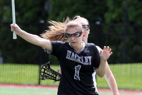 Hackley's Leah Holmes during the NYSAIS championship girls lacrosse game at Manhattanville College May 22, 2019. Hackley beat Rye Country Day 18-7.