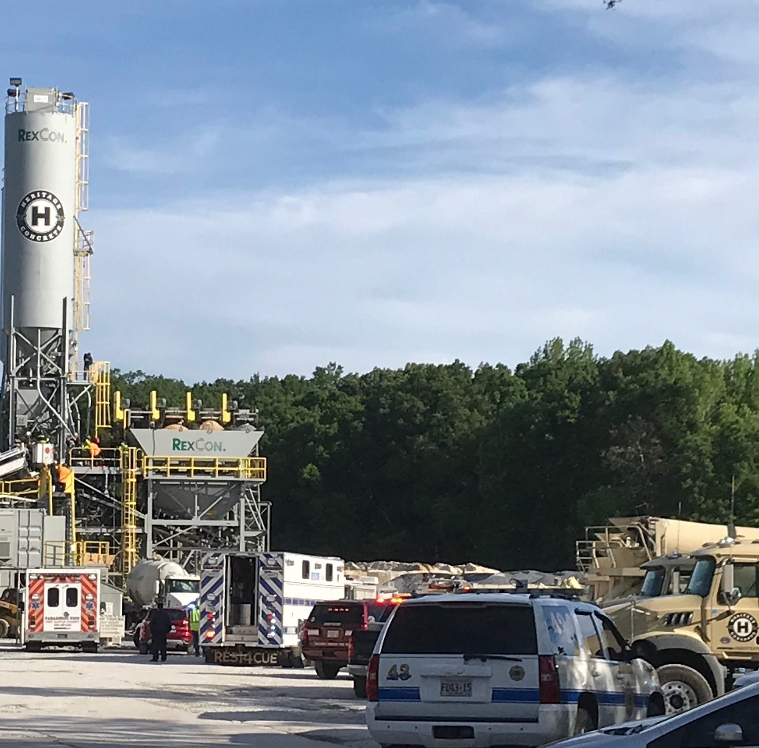 Trapped worker rescued at concrete plant in Townsend