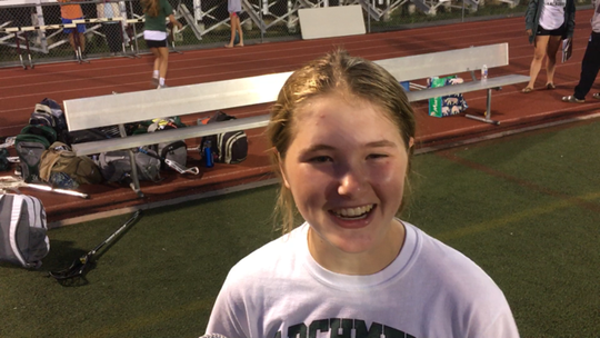 Archmere sophomore goalie Maura Smeader made numerous big saves in the Auks' 9-3 win over Padua in the DIAA girls lacrosse semifinals.