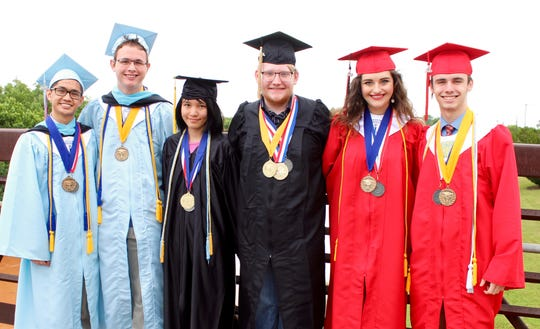 Wichita Falls Independent School District's salutatorians and valedictorians for the district's three high schools, Hirschi, Rider and Wichita Falls.
