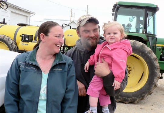 Angel, Chris and Anneliese Hebbe, Cambridge farmers, look to the future with optimism.