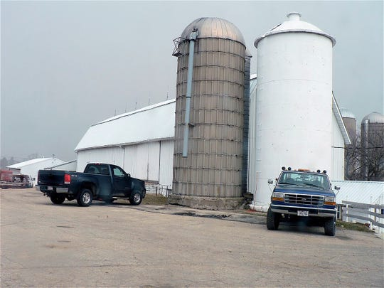 The 120 foot bar currently serves as the milking parlor for the 90 cow Hebbe dairy herd.