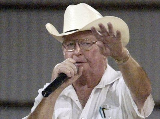 Going, going, gone. Auctioneer Pat O'Brien will be missed
