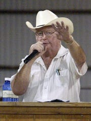 Pat O'Brien has been a familiar face on the podium at the Market Livestock Auction at the Fond du Lac County Fair for over 50 years.