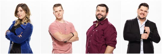"""""""The Voice"""" Top 4: Maelyn Jarmon, Gyth Rigdon, Andrew Sevener and Dexter Roberts."""