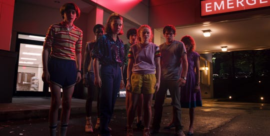 "Eleven (Millie Bobby Brown) and the kids of ""Stranger Things"" take on a new threat in Season 3."