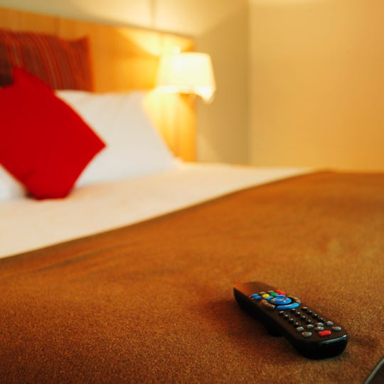 Hotel remotes: Hotel housekeepers may bleach the bathroom and dust the nightstand, but they rarely clean the TV remote. Studies conducted by microbiologists have found that remote controls have some of the highest levels of bacterial contamination in hotel rooms. To channel-surf without fear, cover the remote with the free hotel shower cap.