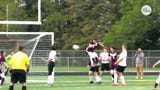 A Iowa high school soccer player stunned the crowd after scoring a unique goal off a corner kick.