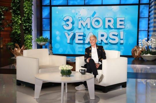 Ellen DeGeneres had big news for her studio audience Tuesday: 'The Ellen DeGeneres Show' has been renewed for three years.
