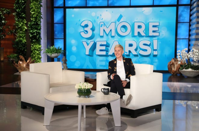 Ellen DeGeneres had big news for her studio audience Tuesday: 'The Ellen DeGeneres Show' has been renewed for three years.