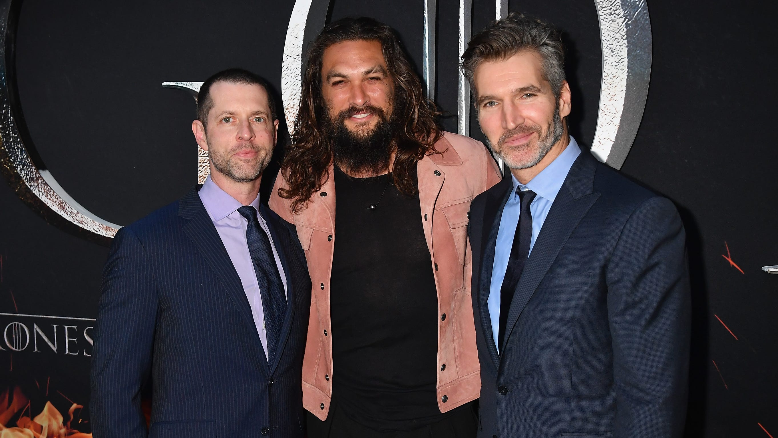 """We're guessing Jason Momoa isn't happy with """"Game of Thrones"""" co-creators D.B Weiss, left, and David Benioff, either, since they're the ones who wrote Daenerys death."""