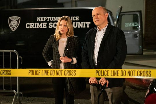 """Kristen Bell as Veronica Mars and Enrico Colantoni as Keith Mars in this exclusive photo from Hulu's  """"Veronica Mars."""""""