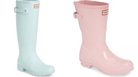 These bubblegum rain boots will look great in spring showers.