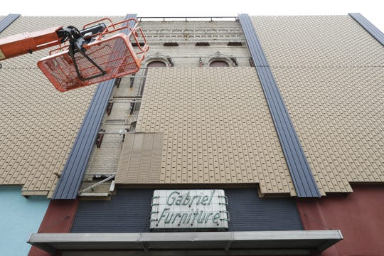 The lengthy construction project that'll turn the former Gabriel Furniture building into the Gabriel Lofts is underway.