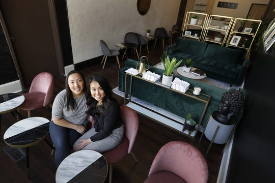 Colleen Bies, left, and Alyssa Jones are co-owners of Fika Tea Bar opening June 7 in downtown Appleton.