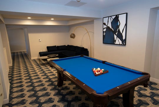 Pool Table Junior Suite at the newly renovated Sheraton in Eatontown, NJ and Carey Tajfel, Co-President of Hotels Unlimited which owns the hotel.