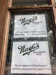 Despite these signs on the front door of Nagle's in Ocean Grove, owners say that due to an illness, their restaurant will not open this summer.