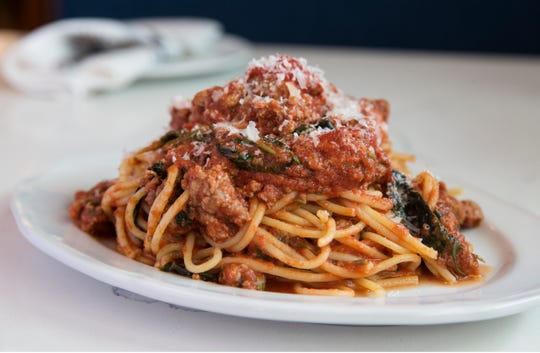 Spaghetti with meat sauce at Nettie's House of Spaghetti in Tinton Falls.