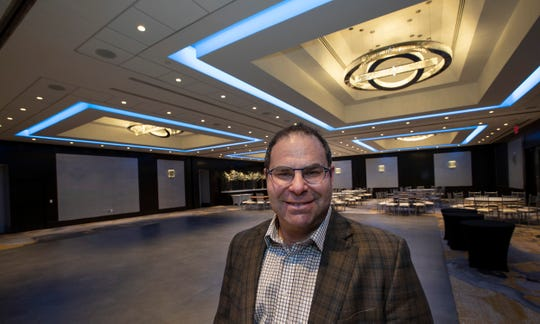 Carey Tajfel, Co-President of Hotels Unlimited in the main ballroom at the newly renovated Sheraton Hotel in Eatontown, NJ, which owns the hotel. Hotels Unlimited are the owners of the Sheraton.
