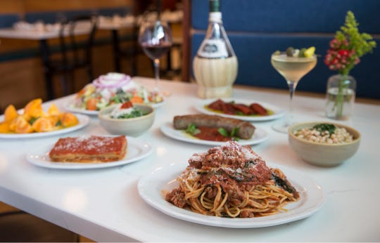 A selection of dishes from Nettie's House of Spaghetti in Tinton Falls.