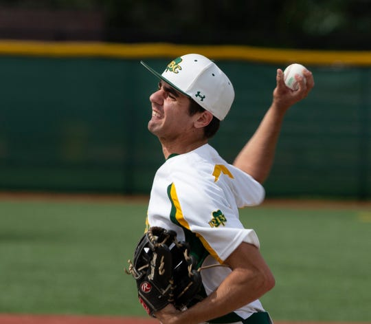 Red Bank Catholic pitcher Vincent Bianchi is shown delivering a pitch Wednesday against Jackson Memorial.